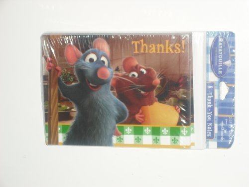 - Ratatouille Party Thank YOU Cards