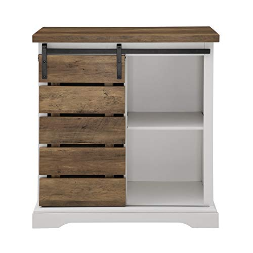 WE Furniture AZF32ALSDRO Buffet, 32'', Solid White/Rustic Oak by WE Furniture (Image #2)