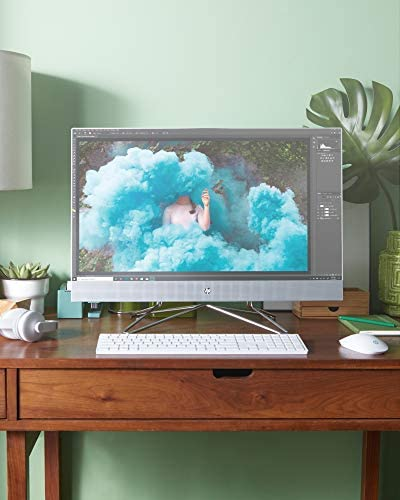 """HP 24 All-in-One PC, 11th Gen Intel i7-1165G7 Processor, 16 GB RAM, 512 GB SSD Storage, Full HD 23.8"""" Touchscreen, Windows 10 Home, Remote Work Ready, Wireless Mouse and Keyboard (24-dp1280, 2020)"""