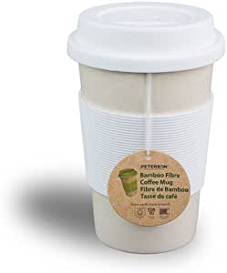 Peterson Housewares Bamboo Fiber Eco Cup 16 Oz White Kitchen Dining Amazon Com