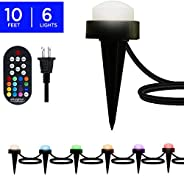 Enbrighten 41366 Select & Color Changing, 6 Lifetime Seasons LED Landscape Mini Puck Lights (10ft.), White