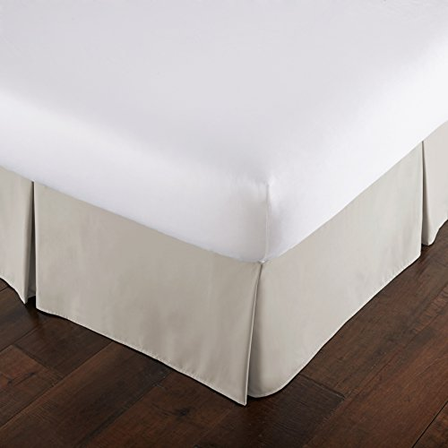 15 Linen (Southshore Fine Linens - VILANO Springs - 15 inch Drop Pleated Bed Skirt, Bone, Queen)