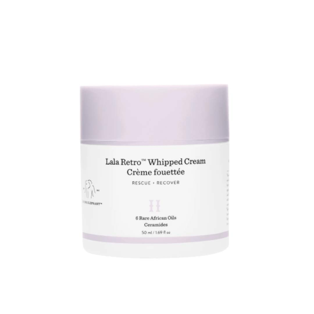 Drunk Elephant Lala Retro Whipped Cream. Replenishing Moisturizer for Skin Protection and Rejuvenation. 1.69 Ounce. - Lala Whipped Cream 50 Milliliters
