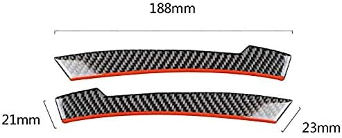 JK-2 Carbono de Carbono del Coche Espejo retrovisor Tiras Antideslizantes Pegatina anticolisi/ón