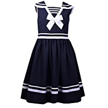 Bonnie Jean Girls' Fit and Flare Nautical Dress