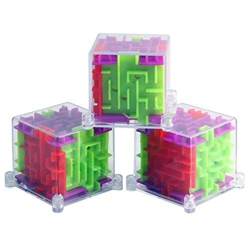 Dreamyth New 3D Cube Puzzle Maze Toy Hand Game Case Box Fun Brain Game Challenge Toys