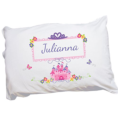 MyBambino Personalized Pink Princess Castle Pillowcase for Girls