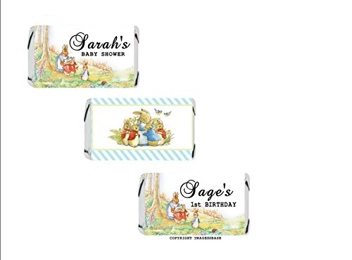 Peter Rabbit Candy Stickers - BIRTHDAY OR BABY SHOWER - Hers