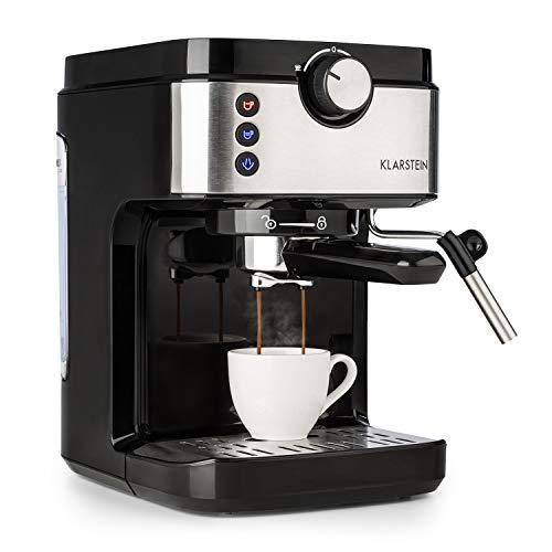Klarstein BellaVita Espresso – Máquina de espresso, 1575 vatios, 20 bar, FullPressure, Capacidad de 900ml, One Touch…