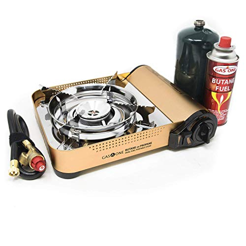 Gas ONE GS-4000P - Camp Stove - Premium Propane or Butane Stove with Convenient Carrying Case