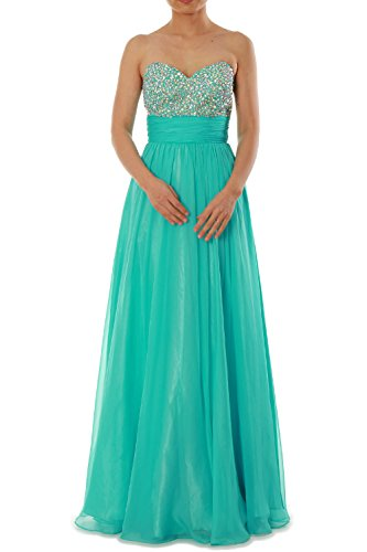 MACloth Women Strapless Chiffon Long Prom Dress Wedding Party Formal Ball Gown Marfil