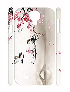 Hipster Flower Pattern Individualized Eco TPU Phone Protective Case for Samsung Galaxy S4 I9500 WANGJING JINDA