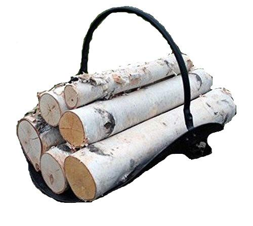 Fireplace Set of White Birch Logs (Basket Fireplace Wood)