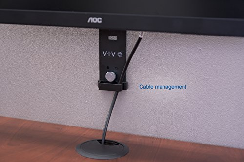VIVO Black Office Cubicle Bracket VESA Monitor Mount Stand Hanger Attachment Adjustable Clamp for 17'' to 32'' Screen (MOUNT-CUB1) by VIVO (Image #4)