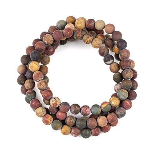 Cherry Blossom Beads Matte Red Cherry Creek Jasper 8mm Round Beads - 36 inch Necklace