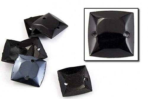 Basic Craft Supplies - 10mm Vintage Cupped Black Square Sequins (100 Pcs) #6625 - Creating and improving Clothes