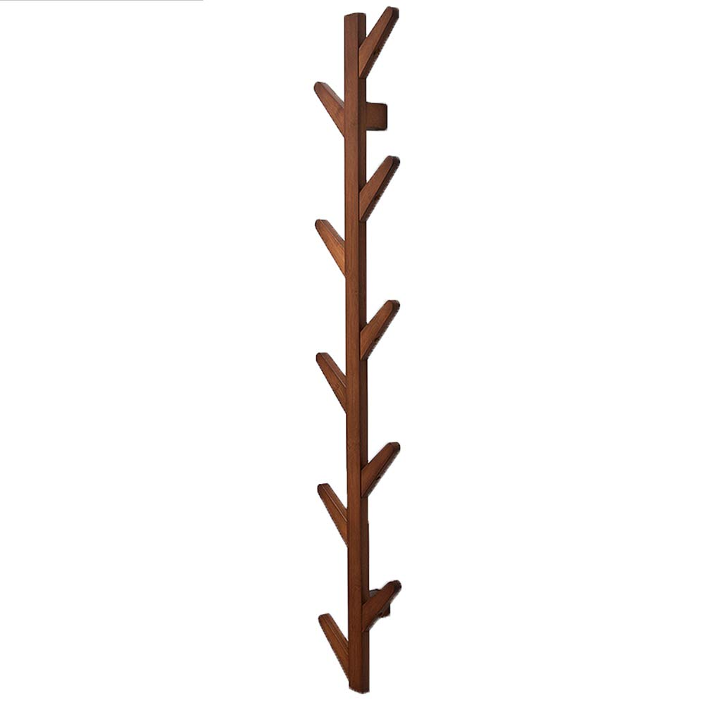 BROWN 7x25x123cm XJRHB Wall-Mounted Tree, Bamboo 3 colors, 3 Sizes (color   White, Size   7x25x98cm)