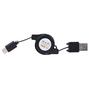 SODIAL USB Tipo C USB 3.1 Cable Retráctil?Cargador De Carga ...