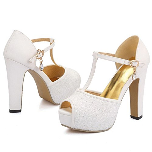 Tacco Sandali White COOLCEPT Alto Party Moda Donna vpnnqAIU