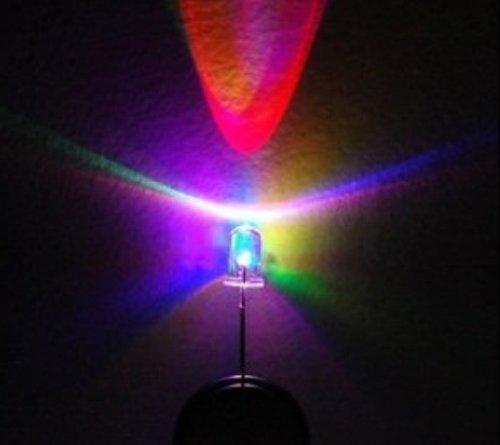 BestEquip 50 Pcs RGB Full Multi Color 5mm Flashing LED
