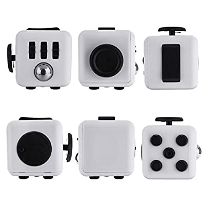 Omaky Fidget Cube Relieves Stress and Anxiety for Children and Adults, White/Black from Omaky