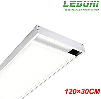 LEDUNI ® Marco Panel LED Empotrable Kit de Superficie Panel 120X30 Marco de Montaje Superficie Borde Blanco 120X30: Amazon.es: Iluminación