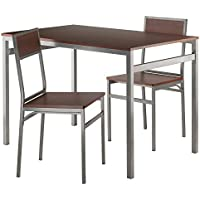 Winsome Wood 93343-WW Furniture Piece Milton 3-Pc Set Dining Table with Chairs