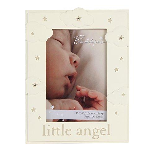 (Oaktree Gifts Resin Cloud Pattern Little Angel Photo Frame 4 x 6)