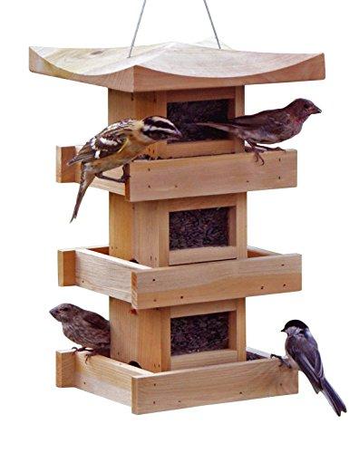 Naturalyards Pagoda Bird Feeder 3-Level, (Pagoda Feeder)