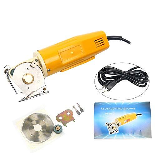 YaeTek 70mm Rotary Blade Electric Round Cloth Cutter Fabric Mini Cutter Shears Cloth Scissors Cutting Machine Tool 110V