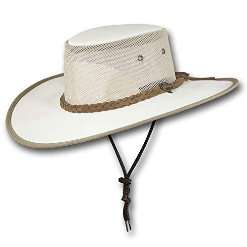 Barmah Canvas - Barmah Hats Wide Brim Canvas Cooler Hat - Item 1087 (Medium, Cream)