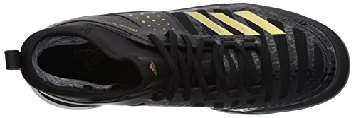 ab61299ca51 adidas Men's Crazyflight X Mid Volleyball Shoes, Core Black, Gold Met, Icey  Blue F17, ((9.5 M US)
