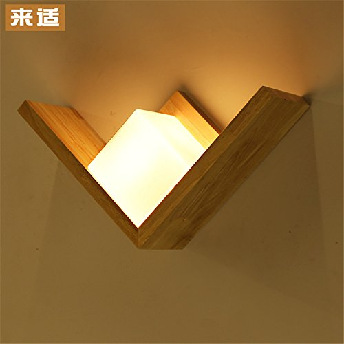 Industrial Vintage Wall Sconces Japanese Wall Lights Stairs Hyun Off The Road Wall lamp Bedroom Bedside lamp led Solid Wood logs - Stainless Steel Wood Log Basket