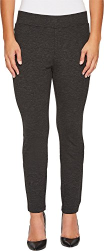 NYDJ Women's Petite Size Basic Pull On Ponte Knit Leggings, Charcoal Heather, 12P by NYDJ