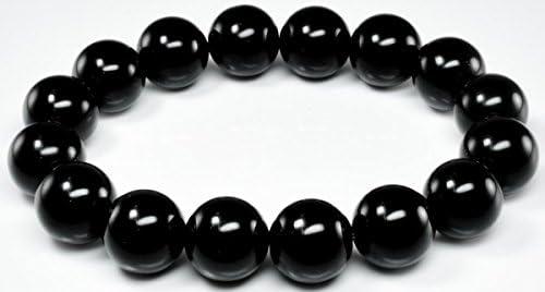 黒き モルダバイト テクタイト 12ミリ ブレスレット