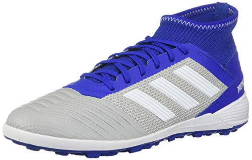 adidas Men's Predator 19.3 Turf Soccer Shoe, Grey/White/Bold Blue, 7 M US