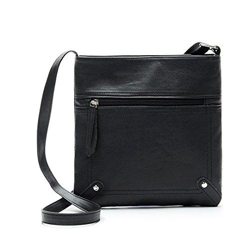 Women Black PU Quistal Messenger Satchel Faux By Case Luxury Ladies Bag Shoulder Leather Eq1YSW7xw