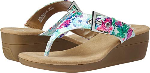 Aerosoles A2 Women's Work Flow Wedge Sandal, Floral Combo, 6.5 M US