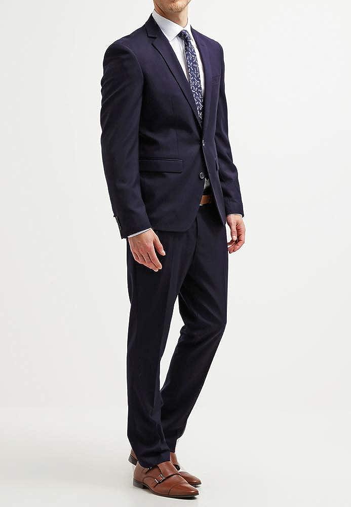 Pier One Traje de Hombre Slim Fit Azul Negro   Gris - Traje para Hombre de  Negocios Tallas 46-54 - Traje Elegante para Boda f3dd4c2728f