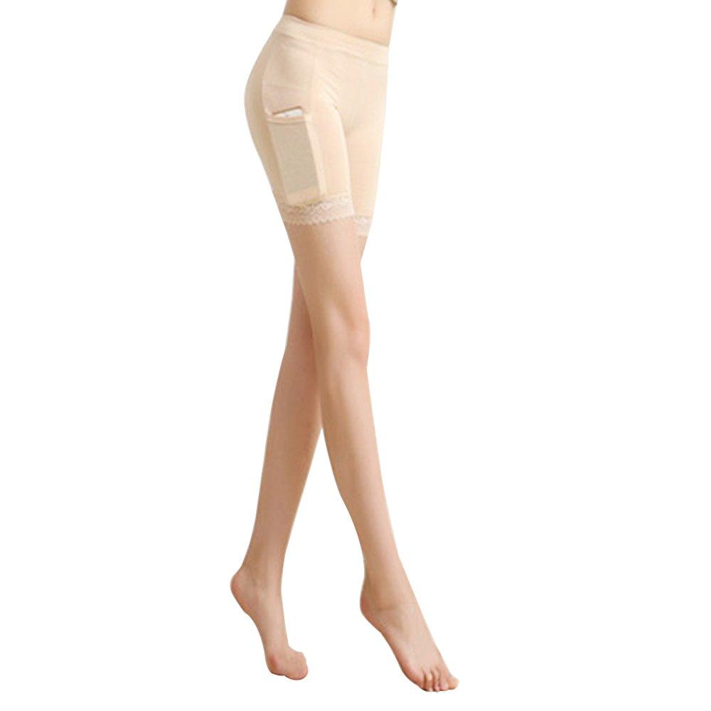 xhorizon TM SR1 Women's High Waist Elastic Panty Short Legging with Phone Pocket