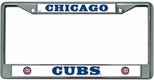 Chicago Cubs Rico Industries Chrome License Plate Frame-150