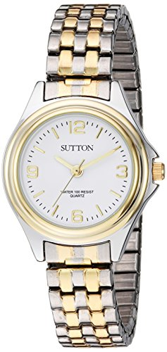 Sutton by Armitron Women's SU/1010WTTT Two-Tone Expansion Band Watch