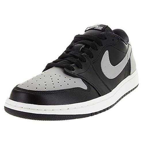 f56add6aae7 Nike Men s Air Jordan 1 Retro Low OG Black Medium Grey Sail Basketball Shoe