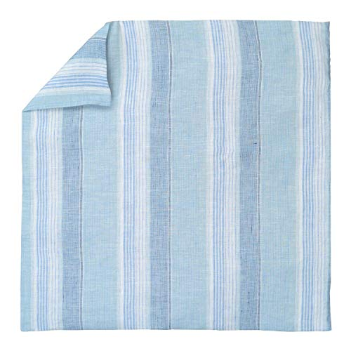 - Luxury Linen Damask Blue White Striped Euro Shams 26x26 Square Pillow Cover Multicolor Ticking Small Thin Pin French Vertical Stripe Sofa Throw Accent Decorative Couch Reversible Covers Case Sham