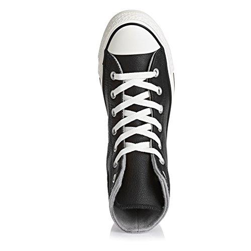 Converse Kvinners Chuck Taylor All Star Hi Top Leather Trenere Svart / Hegre / Delfin