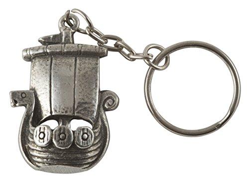Viking Ship Key Ring - Pewter