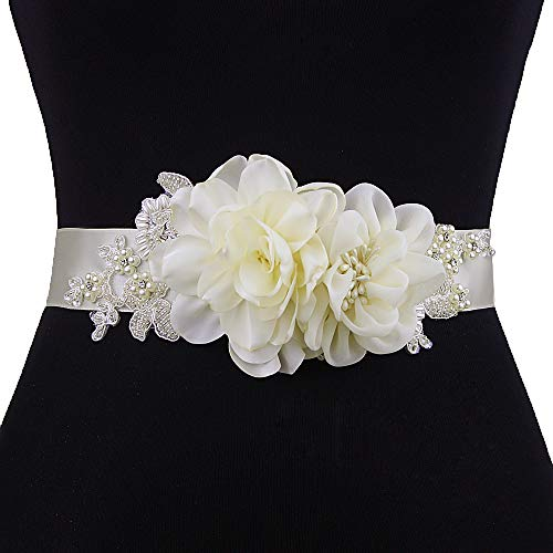 (Azaleas Women's Flower Bridal Belt Sashes Wedding Belts Sash for Wedding)