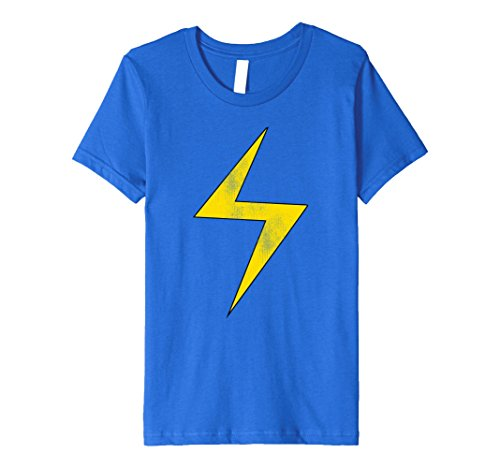 Kids Marvel Ms. Marvel Lightning Bolt Icon Premium T-Shirt 6 Royal Blue