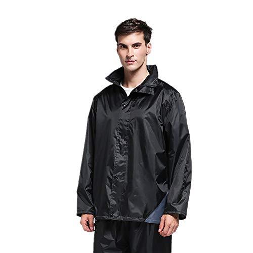impermeabile impermeabile e da all'aperto Camping Raincoa motociclista protettivi giacca giacca all'aria tuta attività la Pantaloni Impermeabile Nero pantaloni impermeabile aperta antipioggia Per con per pesca poncho Piumino 85AvBPgc