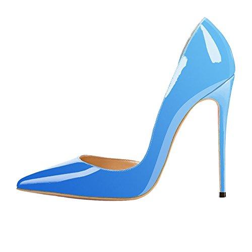E Di Colore D'orsay Pezzi Nansay Scarpe Tacchi Dimensioni Alti Due Punta Da Pompe Grandi Donna Signore Di Blu Aguzza Pendenza Della qPFw07